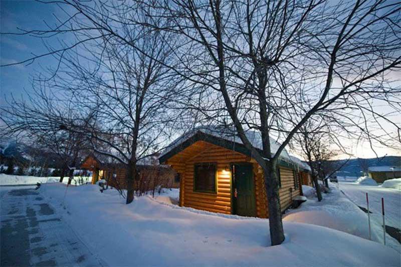 alpine wy cabin rental winter